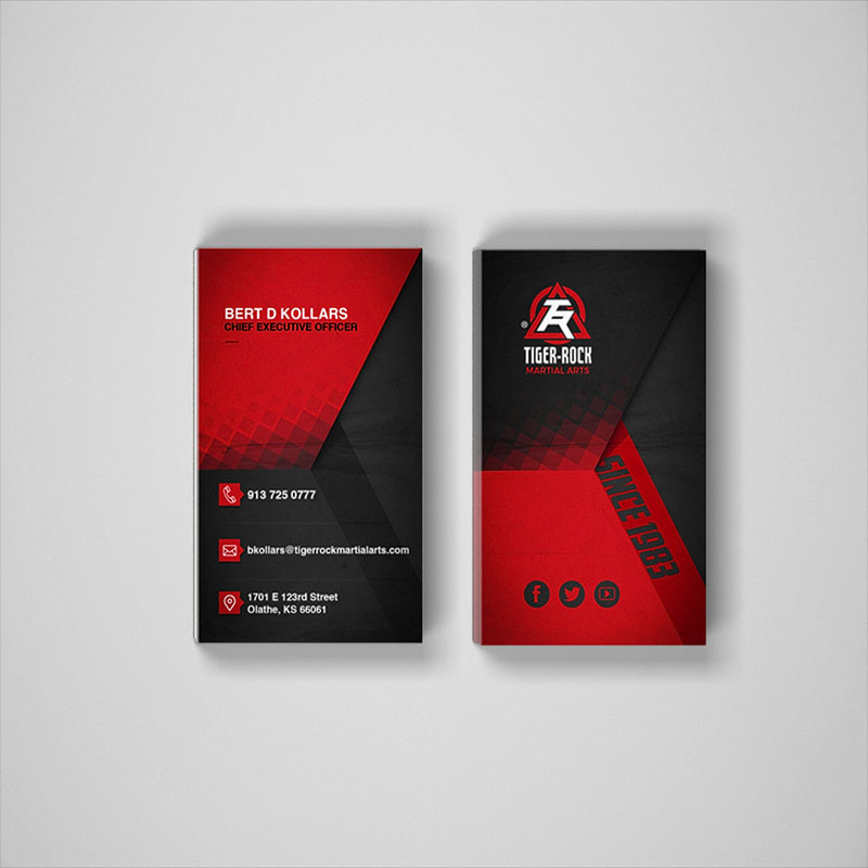 Business Card - Style 01 - Tiger-Rock Martial Arts